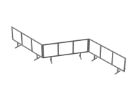 Барьер средний сцепной №2 2000х600 (сцепка)