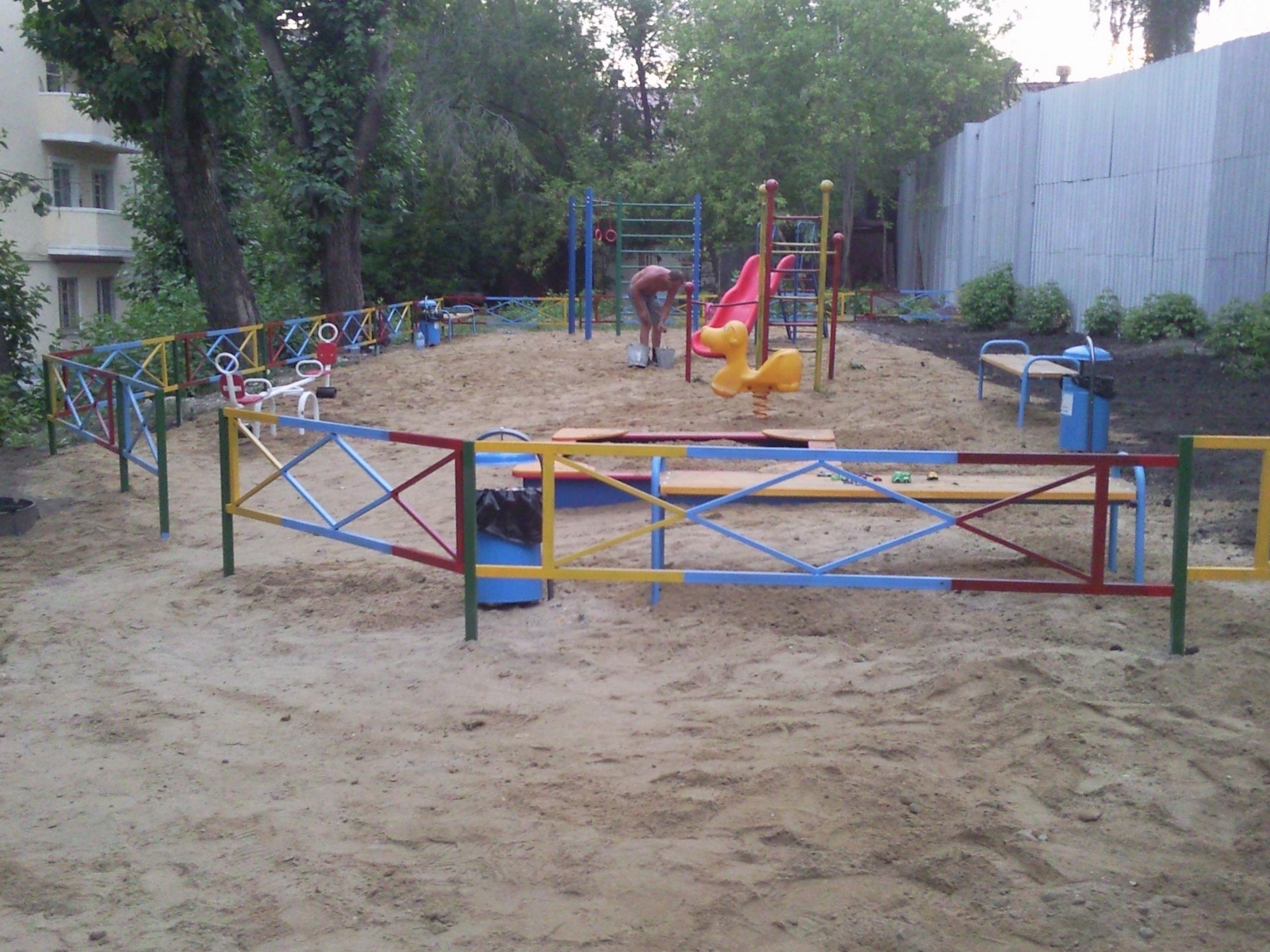 Ограждения для детских площадок